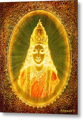 Goddess Of Light Metal Print by Ananda Vdovic