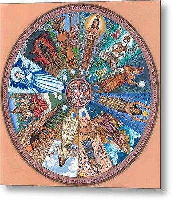 Goddess Wheel Wbwoman Metal Print