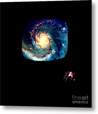 Godhood 2 - Whirlpool Galaxy Metal Print by Richard W Linford
