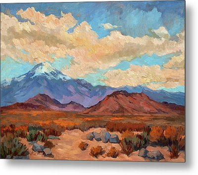 God's Creation Mt. San Gorgonio  Metal Print by Diane McClary