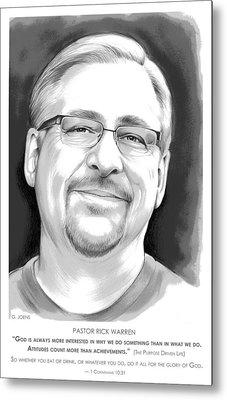 Pastor Rick Warren Metal Print