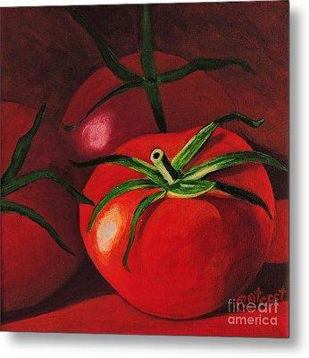 God's Kitchen Series No 3 Tomato Metal Print