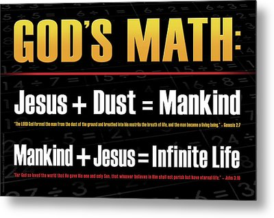 Metal Print featuring the digital art God's Math by Shevon Johnson