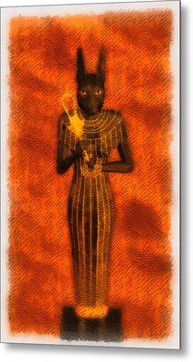 Gods Of Egypt - Bastet Metal Print by Raphael Terra