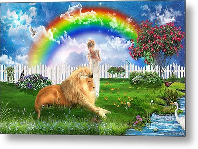 God's Perfect Promise  Metal Print by Dolores Develde