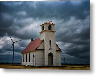 God's Storm Metal Print by Darren White