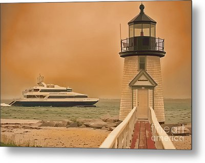 Godspeed At Brant Point Nantucket Island Metal Print by Jack Torcello