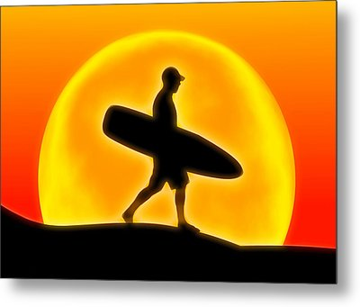 Goin' For A Surf Metal Print