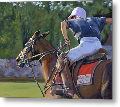Metal Print featuring the painting Goin' For It by Alecia Underhill