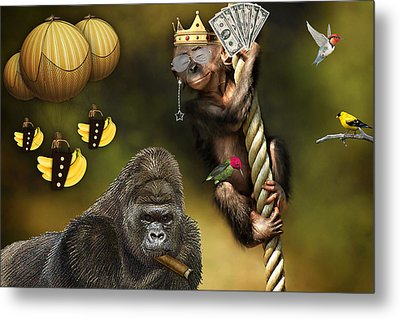 Going Bananas Metal Print by Marvin Blaine