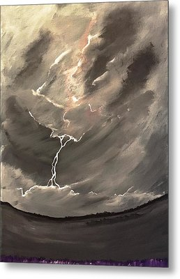 Going Down A Storm Metal Print