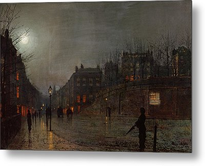 Going Home At Dusk Metal Print by John Atkinson Grimshaw