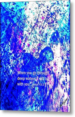 Going Through Deep Waters Metal Print by Hazel Holland