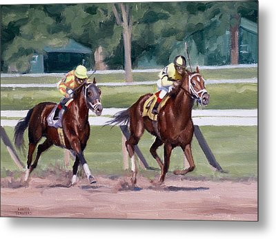Going To The Whip Metal Print by Linda Tenukas