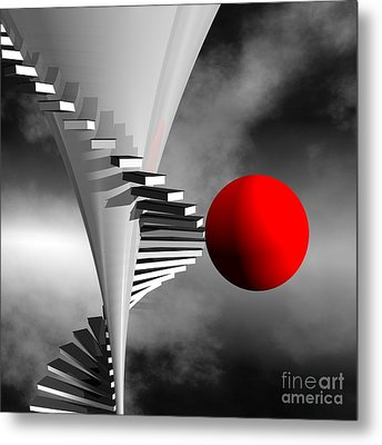 Going Upstairs Metal Print by Issabild -