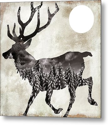 Going Wild Deer Metal Print by Mindy Sommers