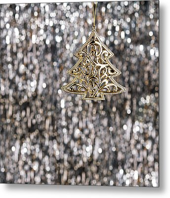 Metal Print featuring the photograph Gold Christmas Tree by Ulrich Schade