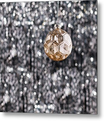 Metal Print featuring the photograph Gold Christmas by Ulrich Schade