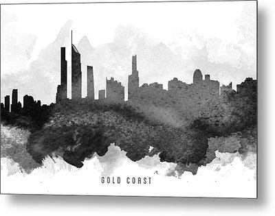 Gold Coast Cityscape 11 Metal Print by Aged Pixel