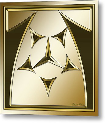 Metal Print featuring the digital art Gold Coffee 7 - Chuck Staley by Chuck Staley