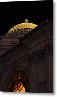 Metal Print featuring the photograph Gold Dome At Night by Don Nieman