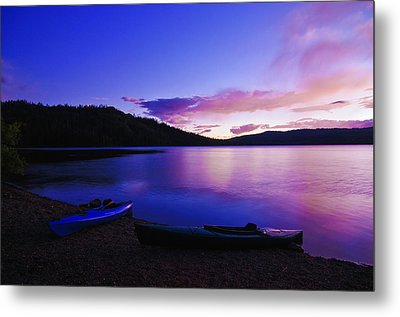 Gold Lake Sunrise Metal Print by Sherri Meyer
