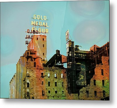 Metal Print featuring the photograph Gold Medal Flour Pop Art by Susan Stone