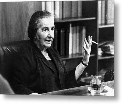 Golda Meir (1898-1978) Metal Print by Granger