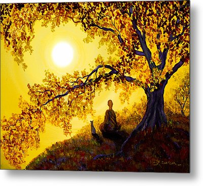 Golden Afternoon Meditation Metal Print