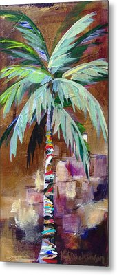 Golden Amethyst Palm Metal Print by Kristen Abrahamson