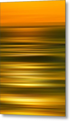 Golden Aqua Bumps Metal Print by Az Jackson