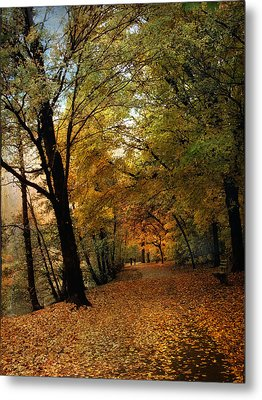 Golden Carpet Metal Print