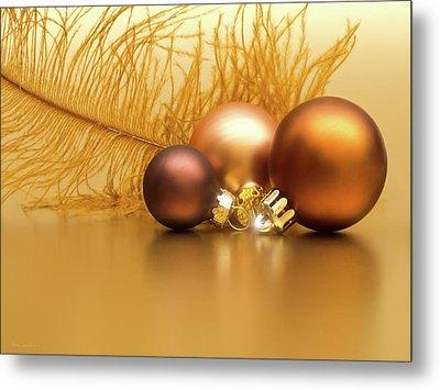 Golden Christmas Metal Print by Wim Lanclus