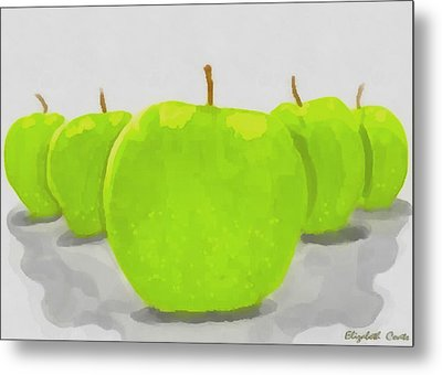 Metal Print featuring the painting Golden Delicious by Elizabeth Coats