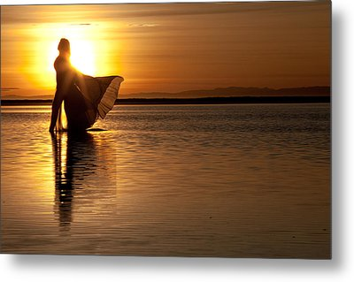 Metal Print featuring the photograph Golden Diva by Dario Infini