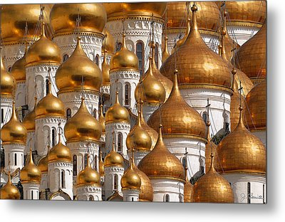 Golden Domes Metal Print by Joe Bonita