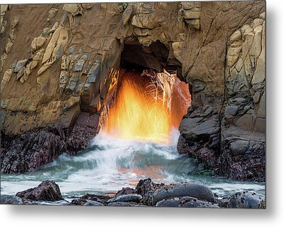 Metal Print featuring the photograph Pfeiffer Beach - Golden Door by Francesco Emanuele Carucci