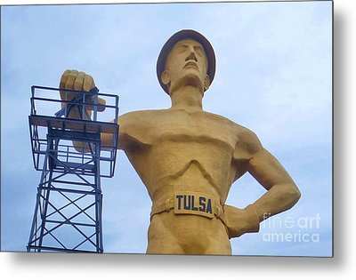 Golden Driller 76 Feet Tall Metal Print