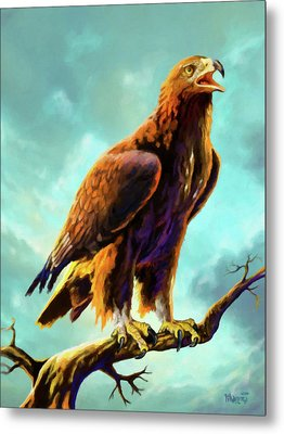 Golden Eagle Metal Print by Anthony Mwangi