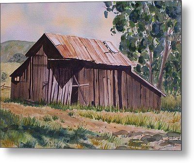 Golden Eagle Ranch Barn Metal Print
