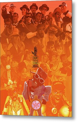 Metal Print featuring the digital art Golden Era Icons Collage 1 by Nelson dedos Garcia