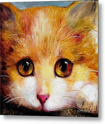 Golden Eye Metal Print by Shijun Munns