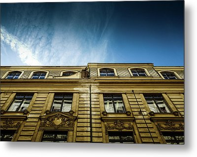 Golden Facade Metal Print