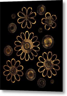 Golden Flowers Metal Print by Frank Tschakert