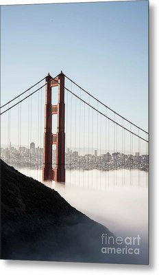 Metal Print featuring the photograph Golden Gate And Marin Highlands by David Bearden
