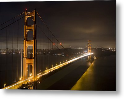 Golden Gate At Night Metal Print