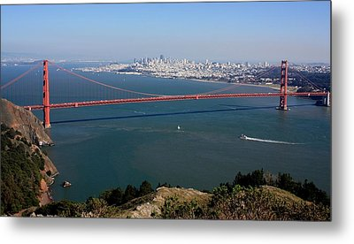 Golden Gate Bidge And Bay Metal Print