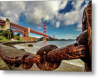 Metal Print featuring the photograph Golden Gate Bridge And Ft Point by Bill Gallagher