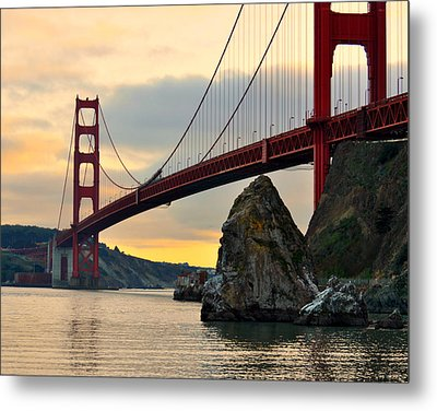 Golden Gate Bridge At Sunset Metal Print by Pamela Rose Hawken