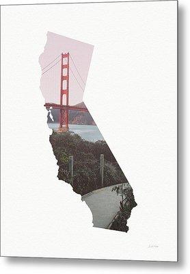 Metal Print featuring the mixed media Golden Gate Bridge California- Art By Linda Woods by Linda Woods